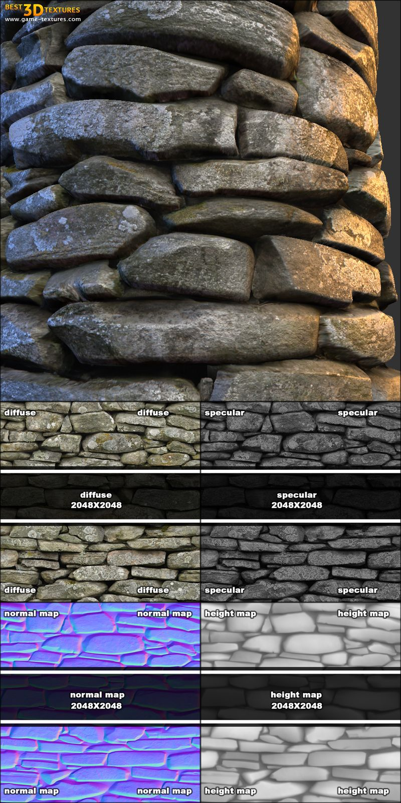 Stone wall 15. A seamless stone wall texture from www