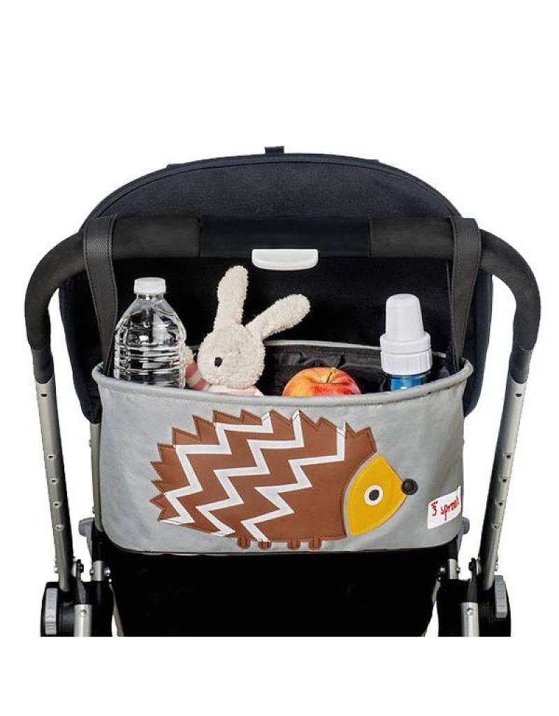 1dbff5b4633 3 sprouts stroller organiser - Brown Hegehog - Buy Online