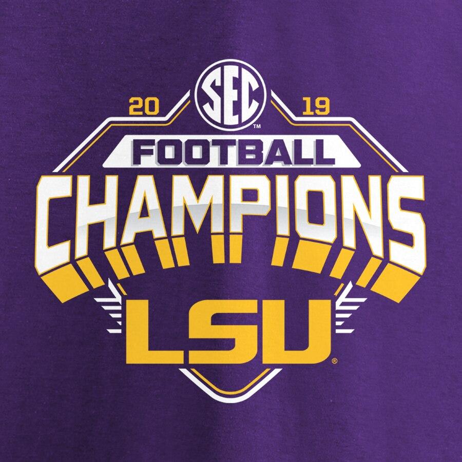 Lsu Tigers Fanatics Branded 2019 Sec Football Champions T Shirt Purple Lsu Tigers Football Sec Football Lsu Football