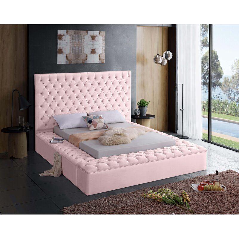 Willa Arlo Interiors Geralyn Upholstered Storage Platform Bed Reviews Wayfair Ca In 2020 Velvet Bed Upholstered Storage Upholstered Platform Bed
