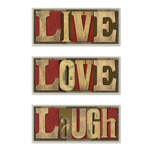 Found it at Wayfair - Live Love Laugh Inspirational 3 Piece Typography Wall…