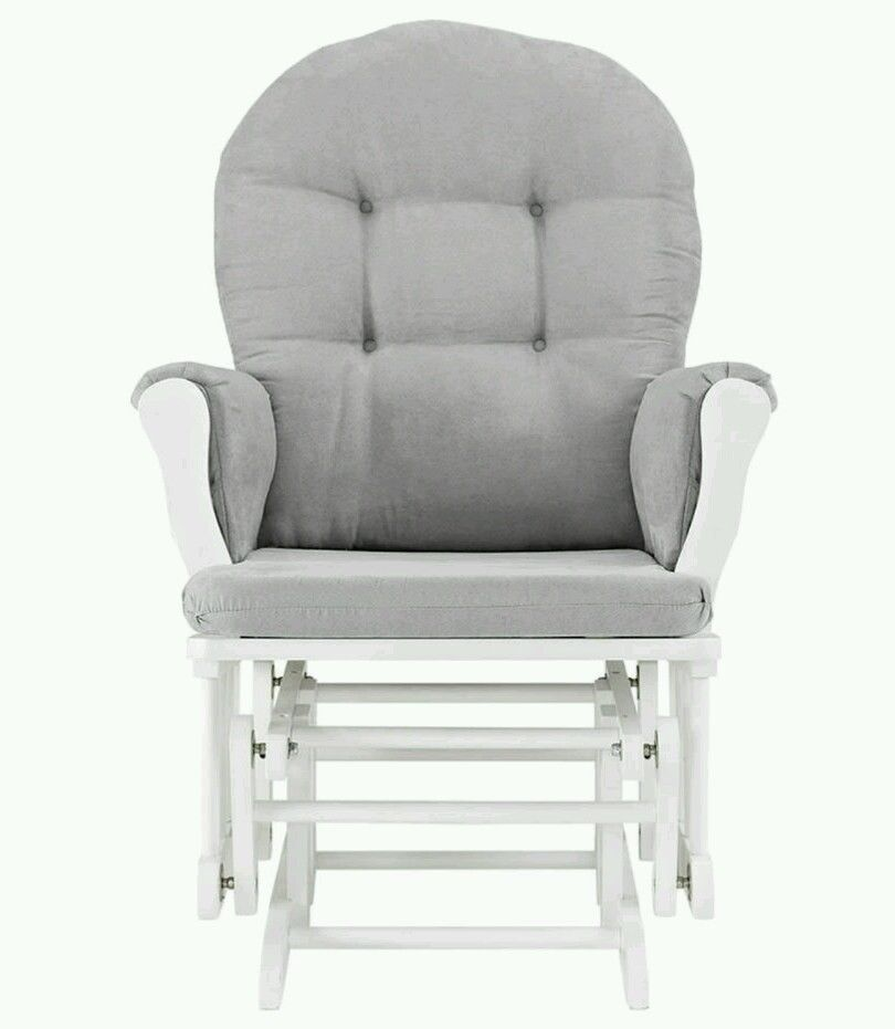 Popular Nursery Glider Rocking Chair Baby Furniture Grey White Relaxing Rocker Ottoman AngelLine Lovely - Cool rocker and ottoman Top Search