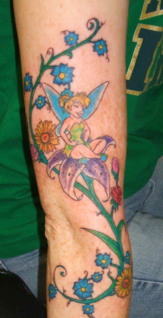 appealing fairy tinkerbell tattoos 17 stunning. Black Bedroom Furniture Sets. Home Design Ideas