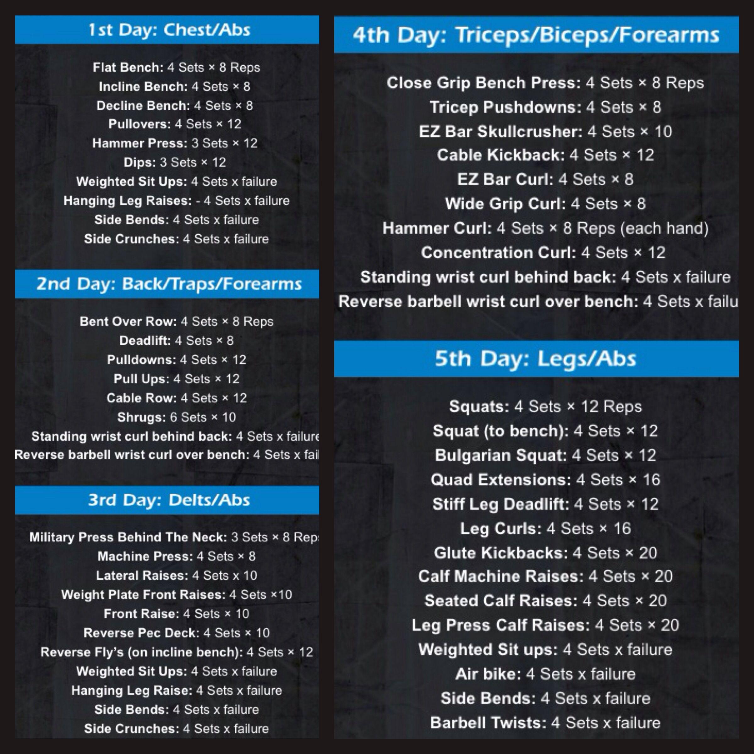 Lazar Angelov 5 days workout : gold | Lazar Angelov | Pinterest