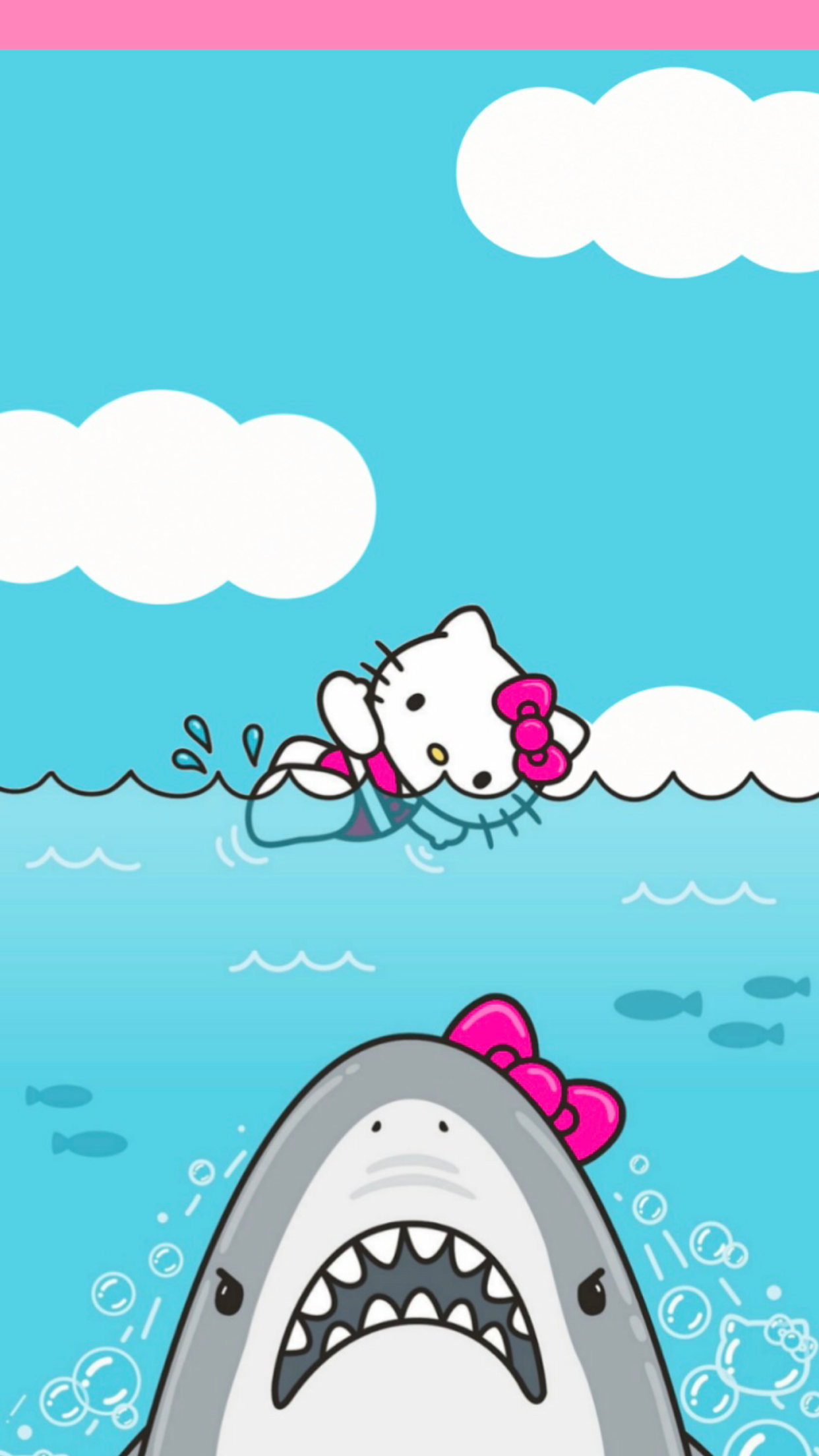 Hello Kitty Shark Lockscreen Fits Iphone 7plus Hello
