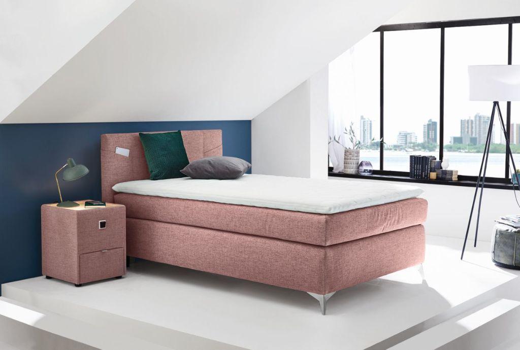 Boxspringbett 120 X 200 Cm Nora H2h3 Rosa Mega Mobel In 2020 Boxspringbett Bett Sofa Design
