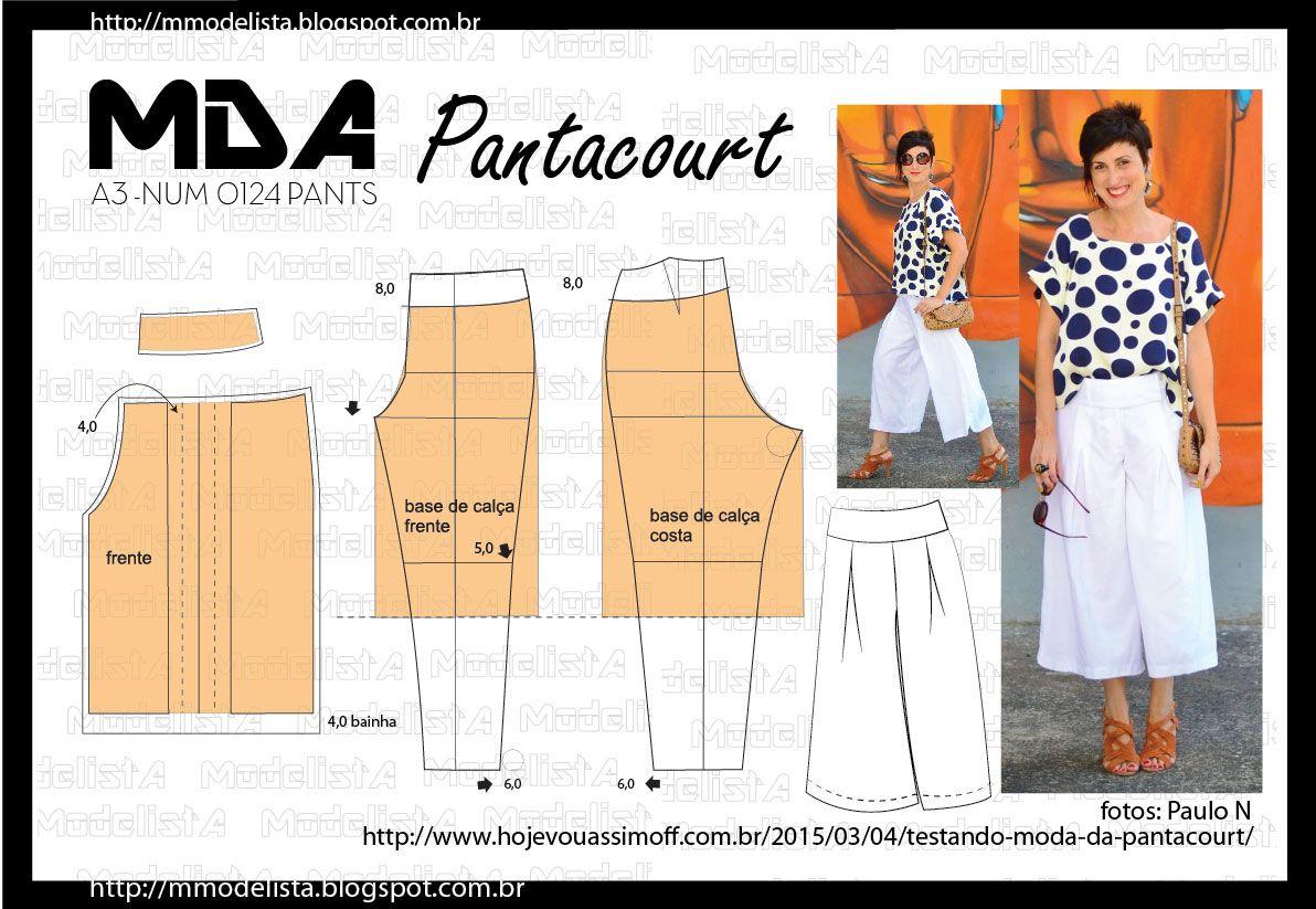 A3 NUM o 0124 PANTS | Escalada, Costura y Patronaje