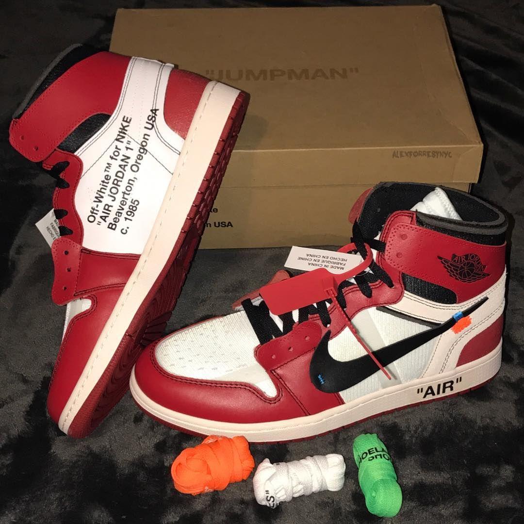 Off White C O Virgil Abloh X Air Jordan 1 Hype Shoes Sneakers Nike Jordan Sneakers Fashion