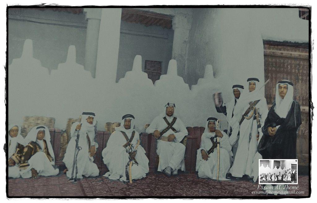 الملك سعود بن عبدالعزيز مع ابنائه Rare Pictures My Images Black And White
