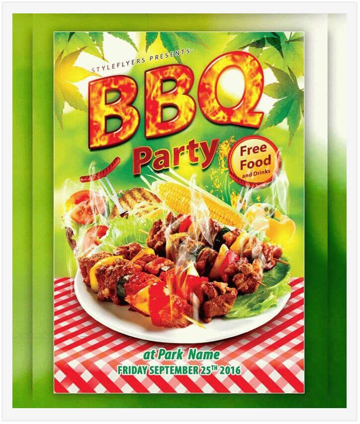 barbecue holiday party flyer Design Desk Pinterest Flyer