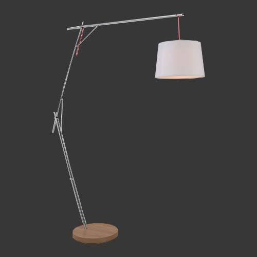 K Light Cantilever Floor Lamp With White Shade Floor Lamp Lamp Stand Light
