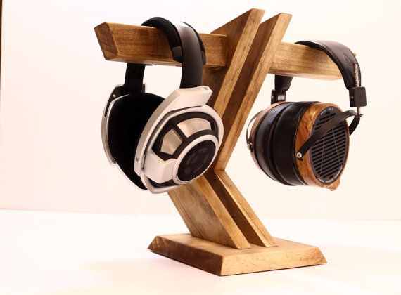 Wood Headphone Stand Multiple Headphone By Woodwarmth On Etsy