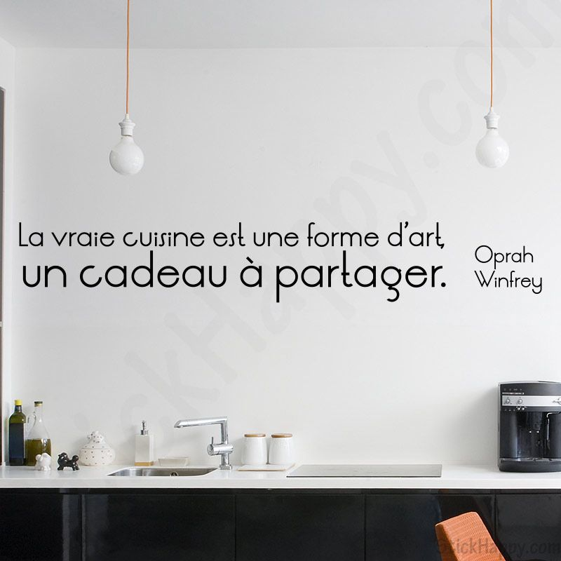 stickers citation cuisine et art la vraie cuisine est une forme d 39 art un cadeau partager de. Black Bedroom Furniture Sets. Home Design Ideas