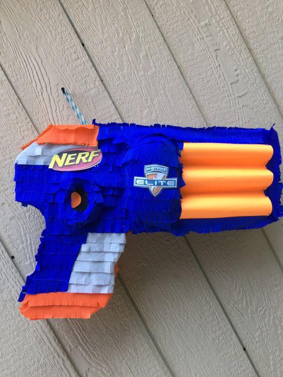 Nerf gun pinata, birthday pinata