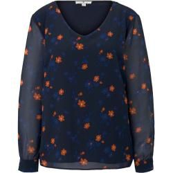 Photo of Tom Tailor Women's patterned blouse, blue, size M Tom TailorTom Tailor