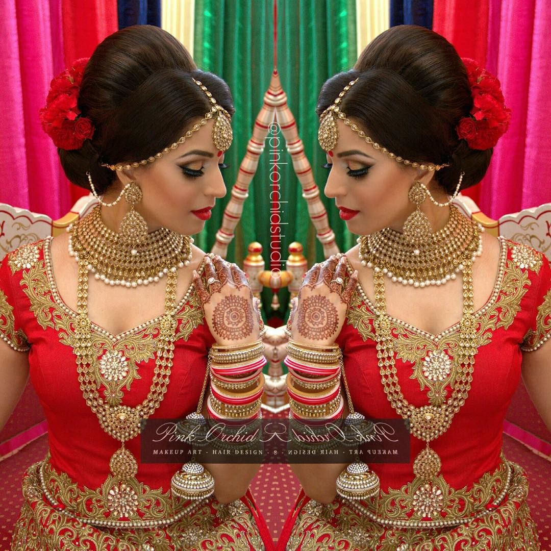 Hindu Bridal Hairstyles 14 Safe Hairdos For The Modern: Pin By Nandini Sharma On Bridal Ideas (With Images
