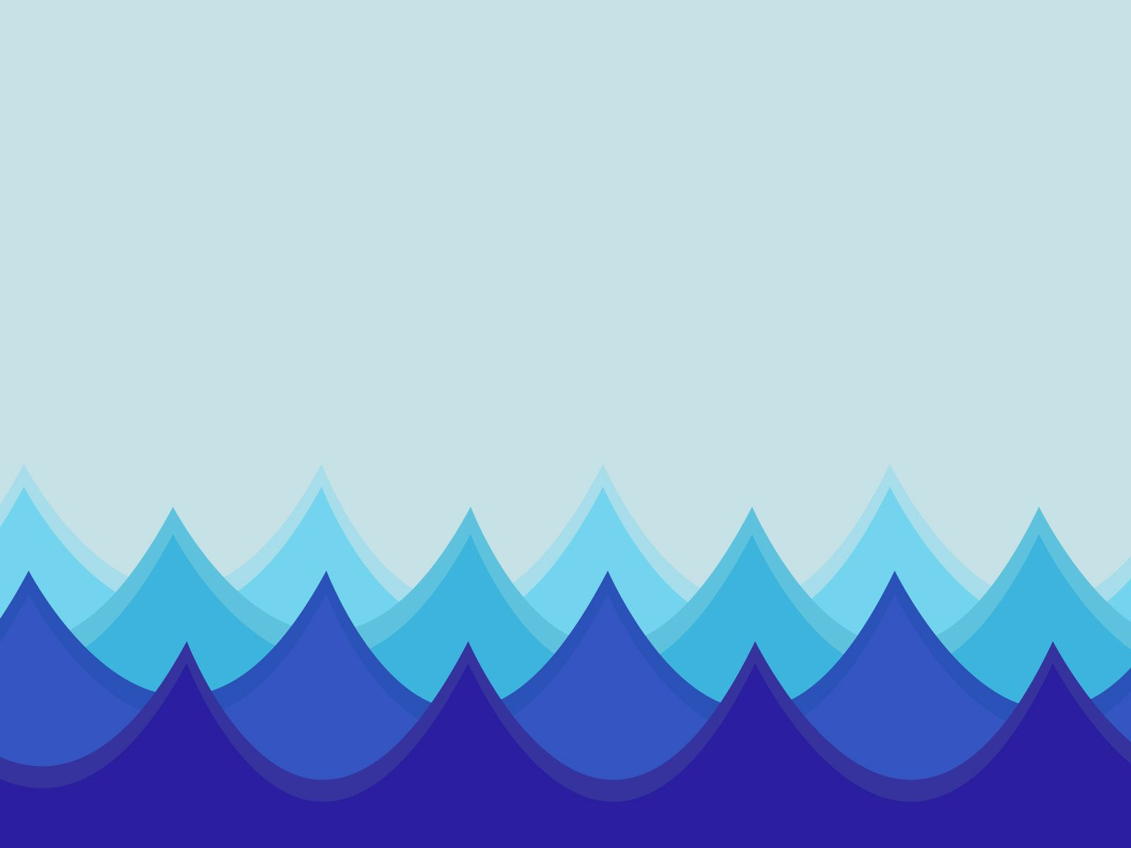 this free the waves in an ocean powerpoint template is 3d