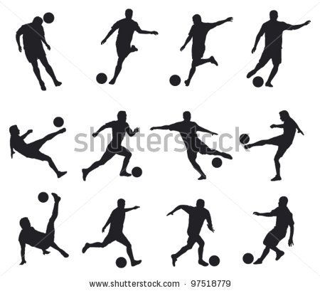 Best Movements Of Soccer Player Vetores Ilustracoes Futebol