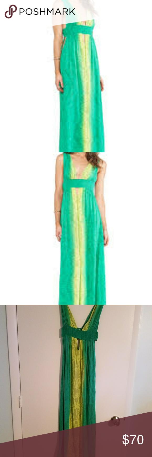 Indha anjeli green and yellow dress yellow maxi dress yellow maxi