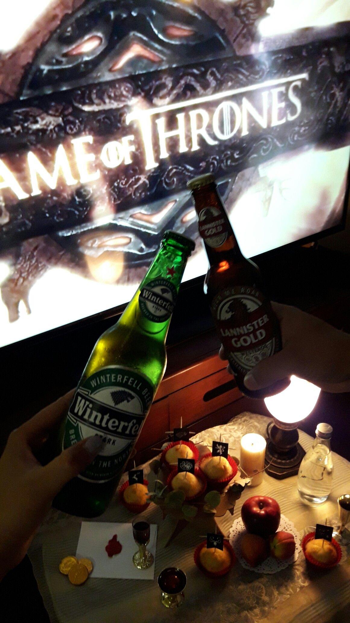 Game of thrones party! got winterishere beer