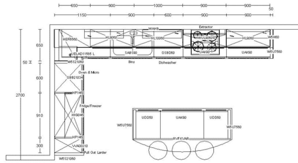 Kitchen Design Measurements Kitchen Layouts Dimension Best ...