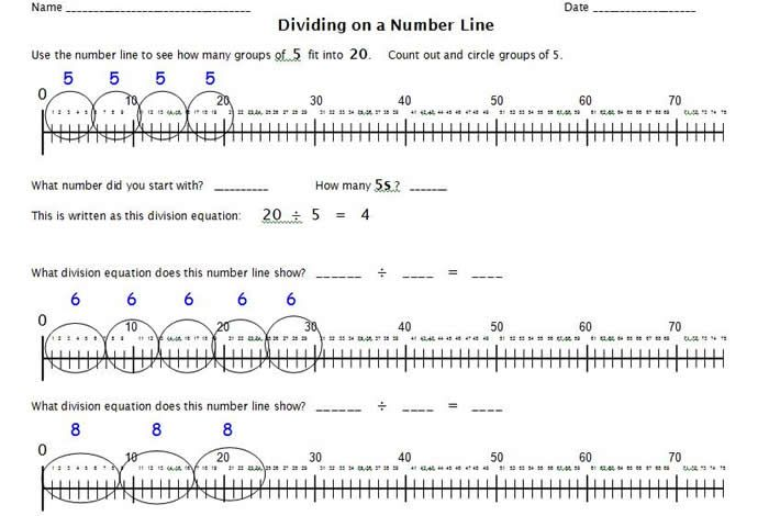 math worksheet : 1000 images about division  fractions on pinterest  number  : Number Line Multiplication Worksheet