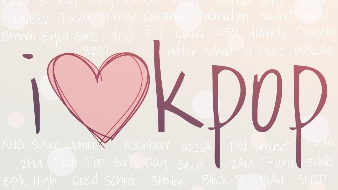 I Love Kpop Wallpaper Kertas Dinding Stiker Gambar