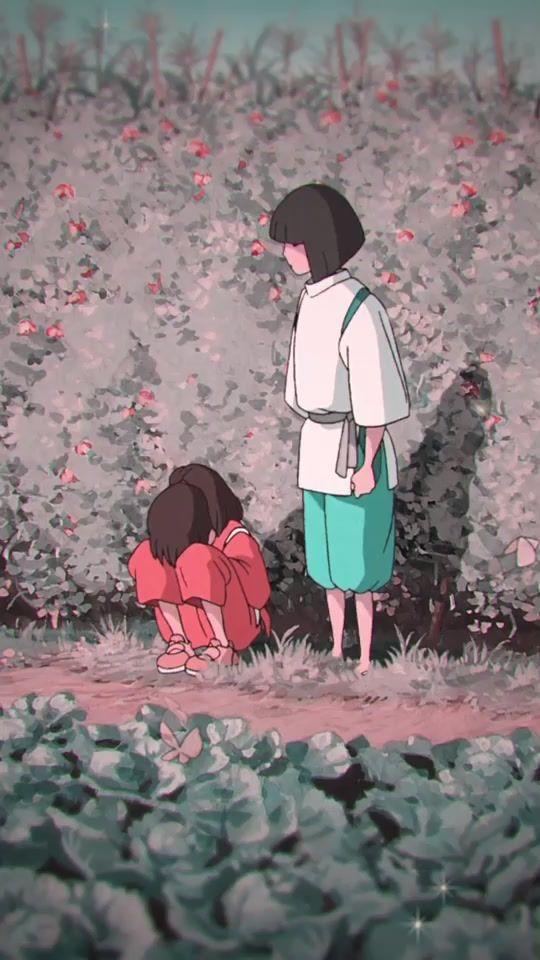 spirited away // haku & chihiro 🌼 #foryoupage #fyp #spiritedaway #ghibli #amv #foryou #anime