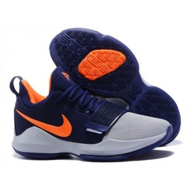 9c965ccda1b5 NikeID PG 1 Custom Men s Wolf Grey Deep Blue Orange. Find this Pin and more on  nike ...