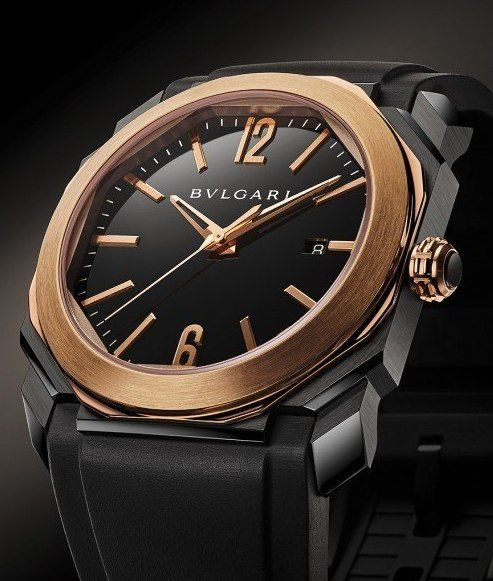 Bulgari - Octo Ultranero Solotempo Red gold RG 1000