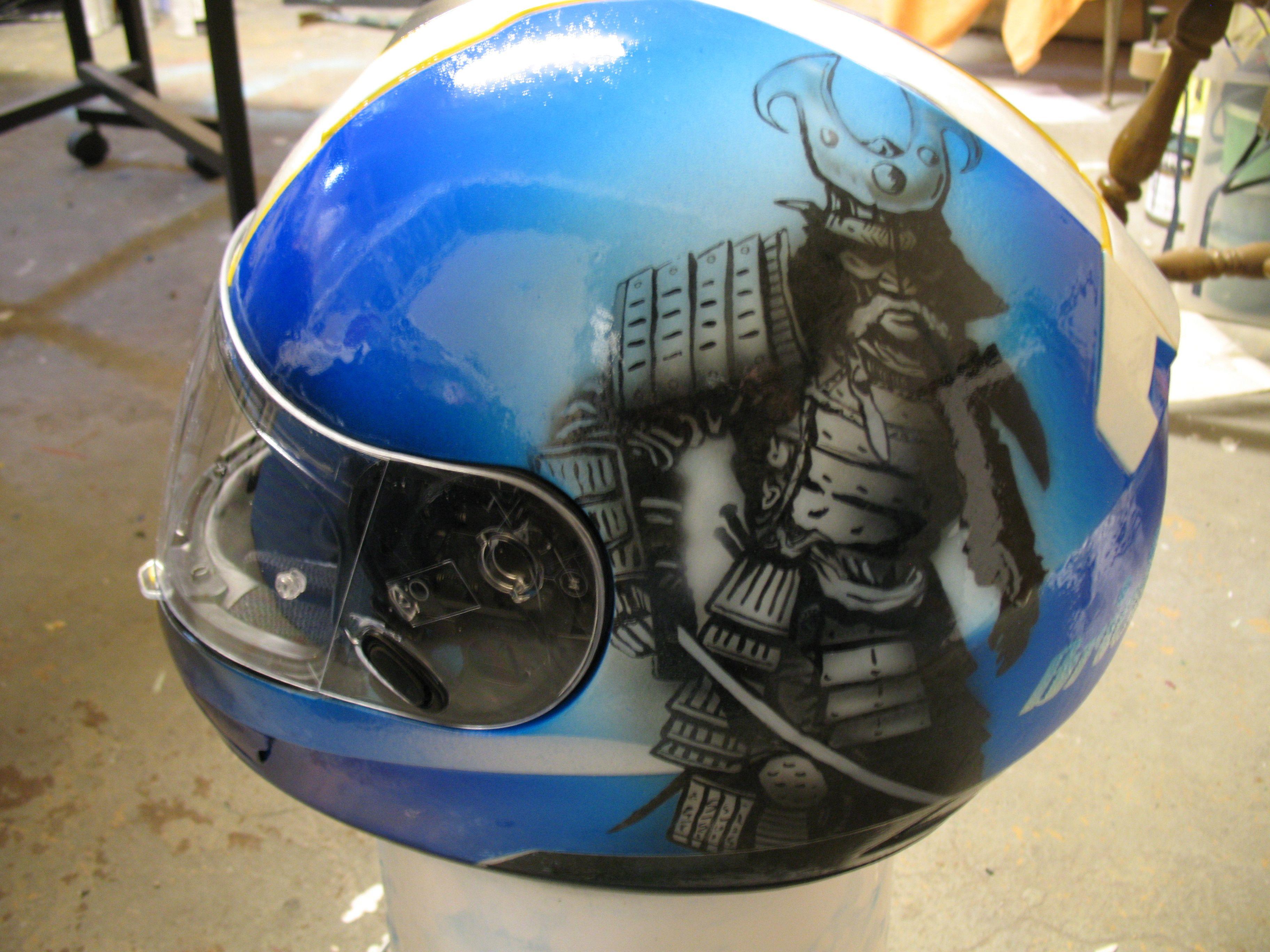 Custom Airbrush Motorcycle Helmet Artist Steve Green
