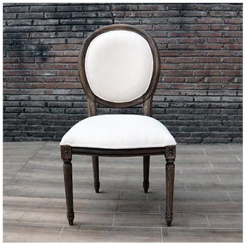 Restoration Hardware Vintage French Round Upholstered Side Chair