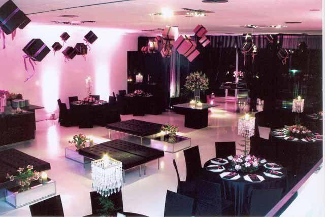 Preferência decoracao de festa de 15 anos branco preto e rosa | cecy decor  HG54