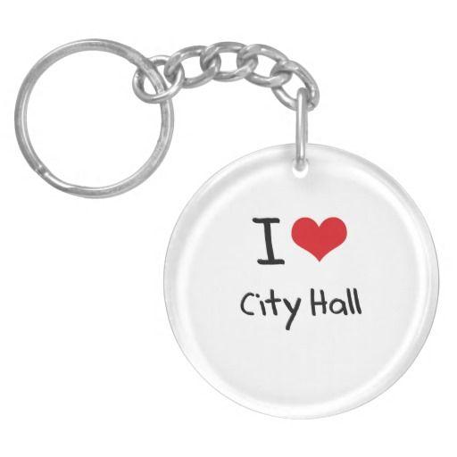 I love City Hall Acrylic Key Chains