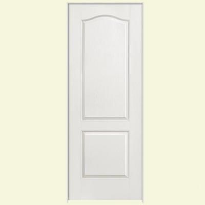 Masonite 36 In X 80 In Textured 2 Panel Arch Top Hollow Core Primed Composite Single Prehung Inte Prehung Interior Doors Arched Interior Doors Doors Interior
