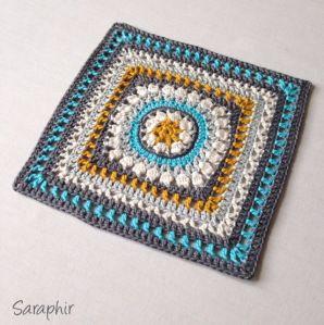 Sapphire dream square - free crochet pattern