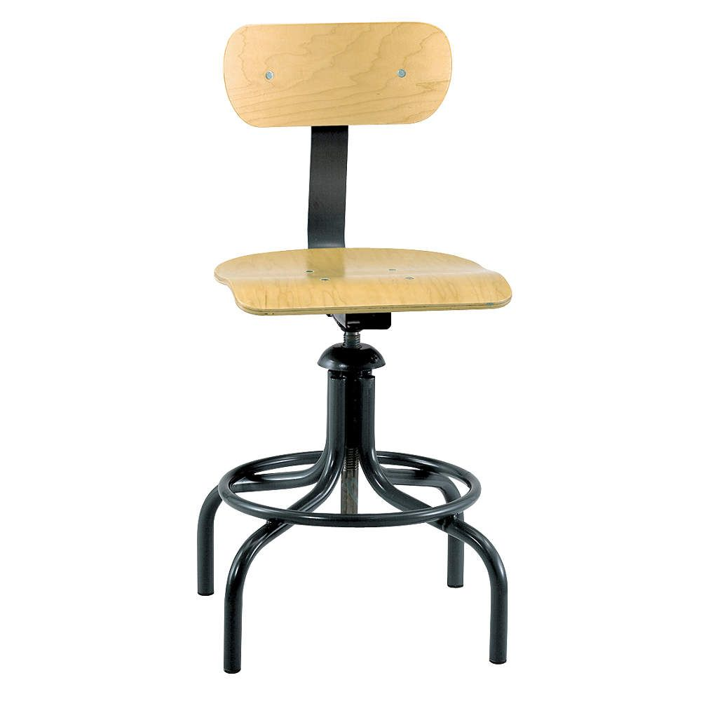 ergonomic chair grainger amazon sofas and chairs bevco swivel stool wood 20 in to 28 stools 8mdm1 1411 industrial supply