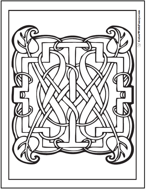 pattern coloring pages customize pdf printables - Celtic Coloring Pages For Adults