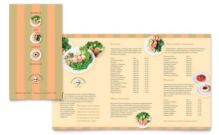Catering Company TakeOut Brochure Template Design By Stocklayouts