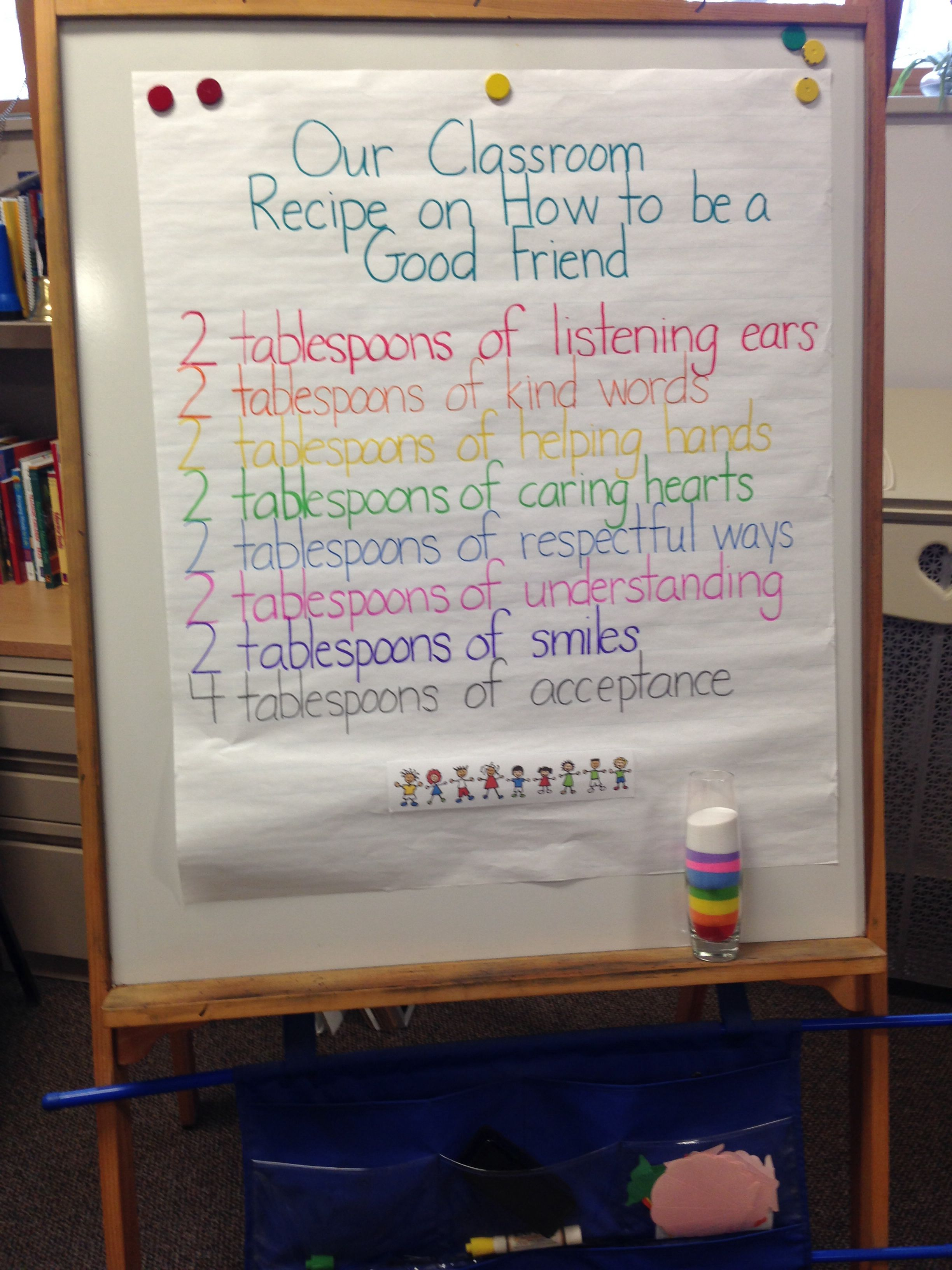 Classroom Recipe For Being A Good Friend