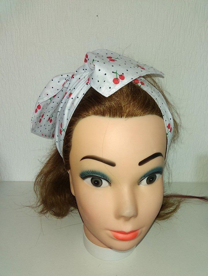 SUGAR SKULL RETRO LANDGIRL ROCKABILLY 1950/'S VINTAGE STYLE HEADSCARF HAIR WRAP
