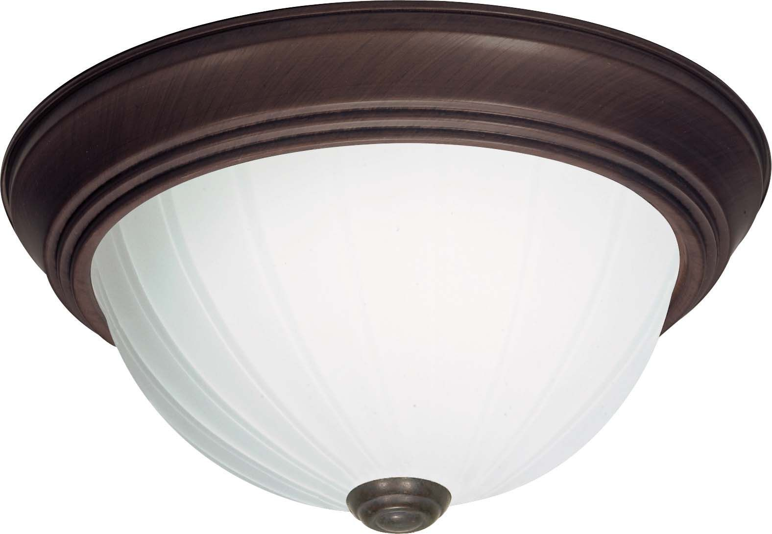 Nuvo 3 Light Cfl 15 In Flush Mount Frosted Melon Glass 13w Gu24 Lamps Ceiling Lights Semi Flush Ceiling Lights Flush Mount Lighting