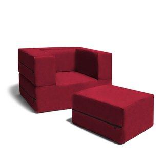 Phenomenal Jaxx Big Kids Convertible Sleeper Chair Ottoman Grey Andrewgaddart Wooden Chair Designs For Living Room Andrewgaddartcom