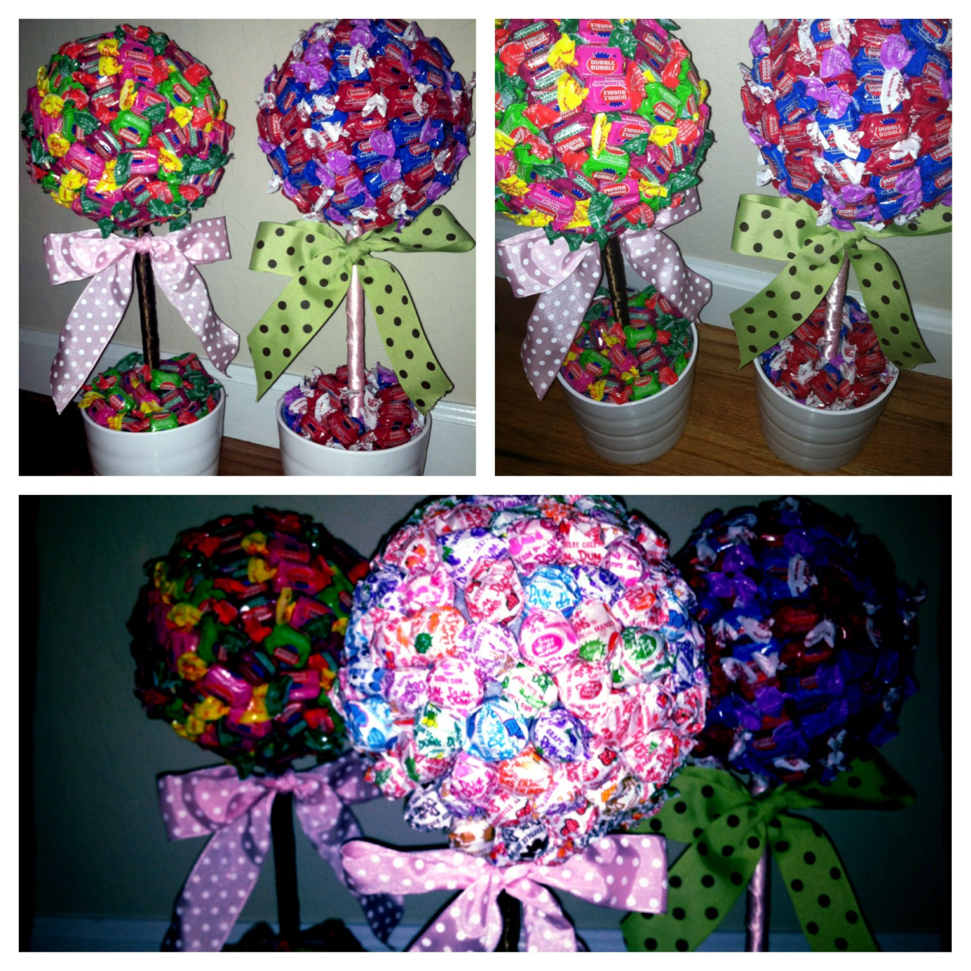 Diy candy trees fun centerpieces for a ready to pop baby