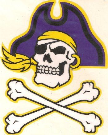 huge discount 1d64e ec098 East Carolina Pirates Skull Logo ECU Precision Cut Vinyl Decal