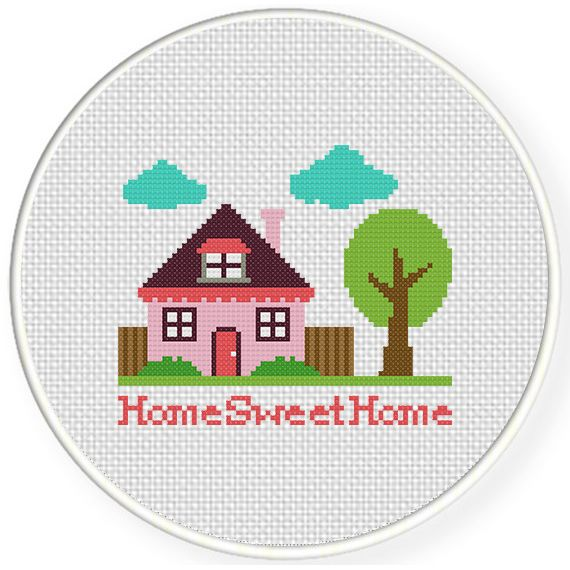 Cross stitch patterns pdf home wall decor. modern cute cross stitch counted easy cross stitch
