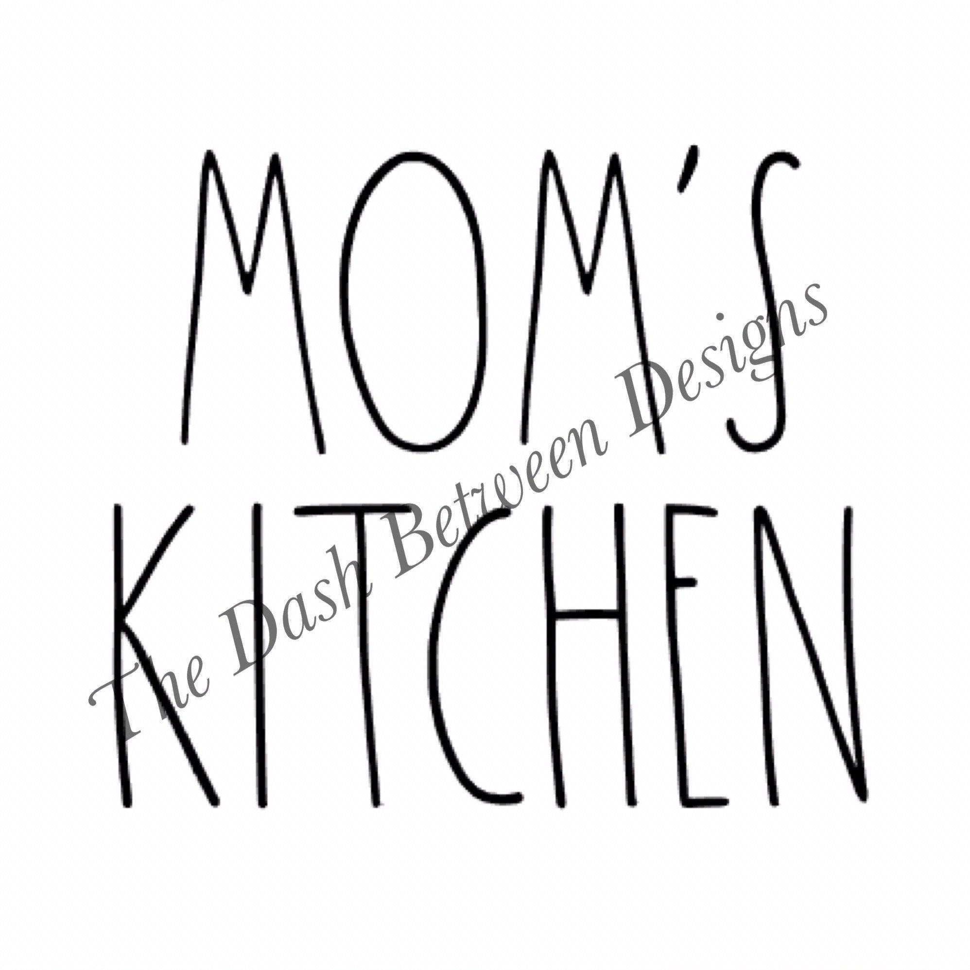 Rae Dunn Inspired MOM\'S KITCHEN Decal | Kitchen decals, Matte black ...