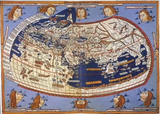Ancient world map by ptolemy shows only europe asia and northern ancient world map by ptolemy shows only europe asia and northern africa gumiabroncs Gallery