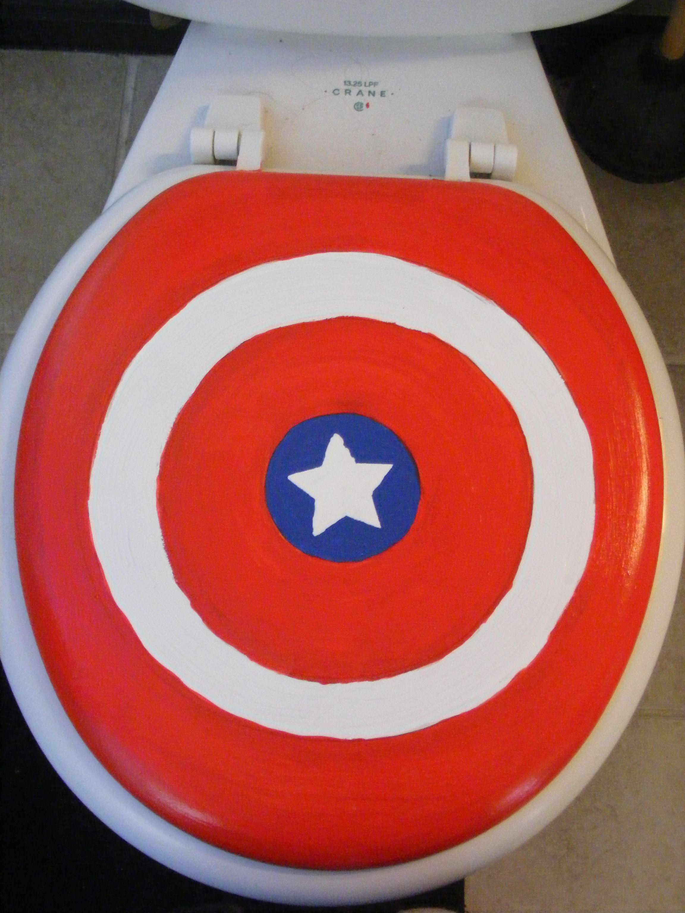 Toilet Seat For Superhero Bathroom Projects To Try Pinterest - Avengers bathroom decor for small bathroom ideas