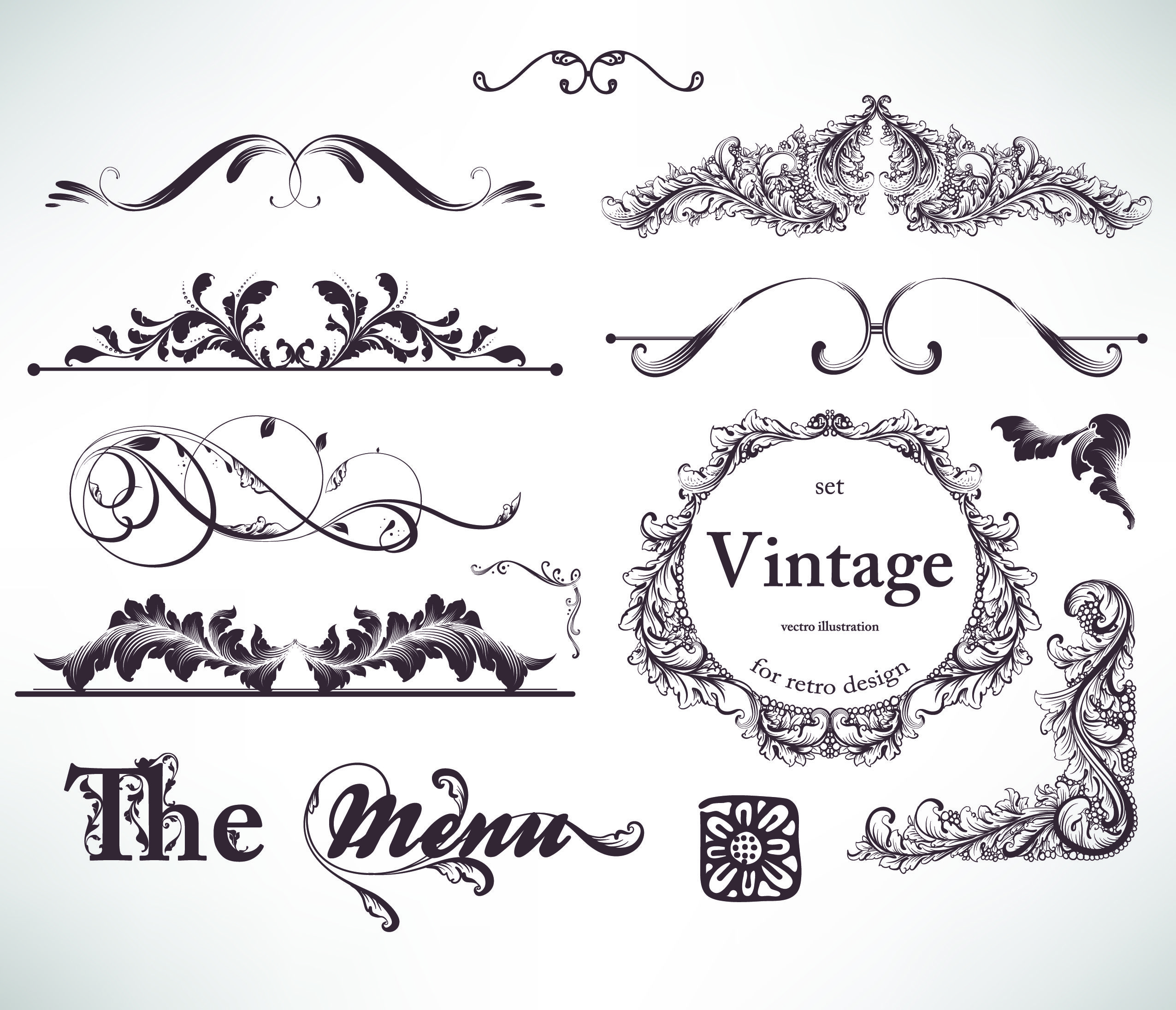 free vector Classic lace pattern 06 vector | Vectors | Pinterest ...